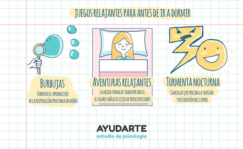 como relajar a un niño para dormir