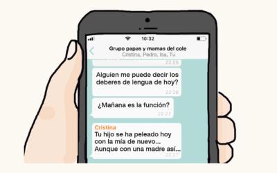 Cómo gestionar los grupos de whatsapp de padres y madres del colegio