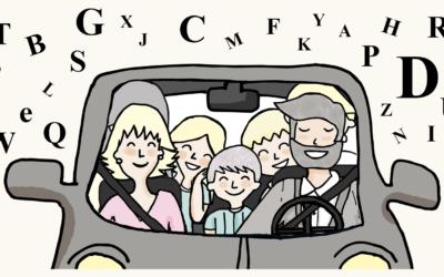 Juegos para viajar en coche que mejoran la lectoescritura de niños de 6 a 12 años