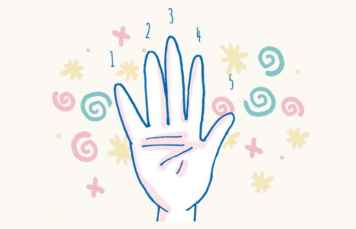 mano contar infantil