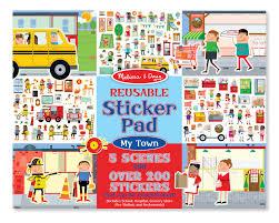 Juego de mesa reusable sticker pad