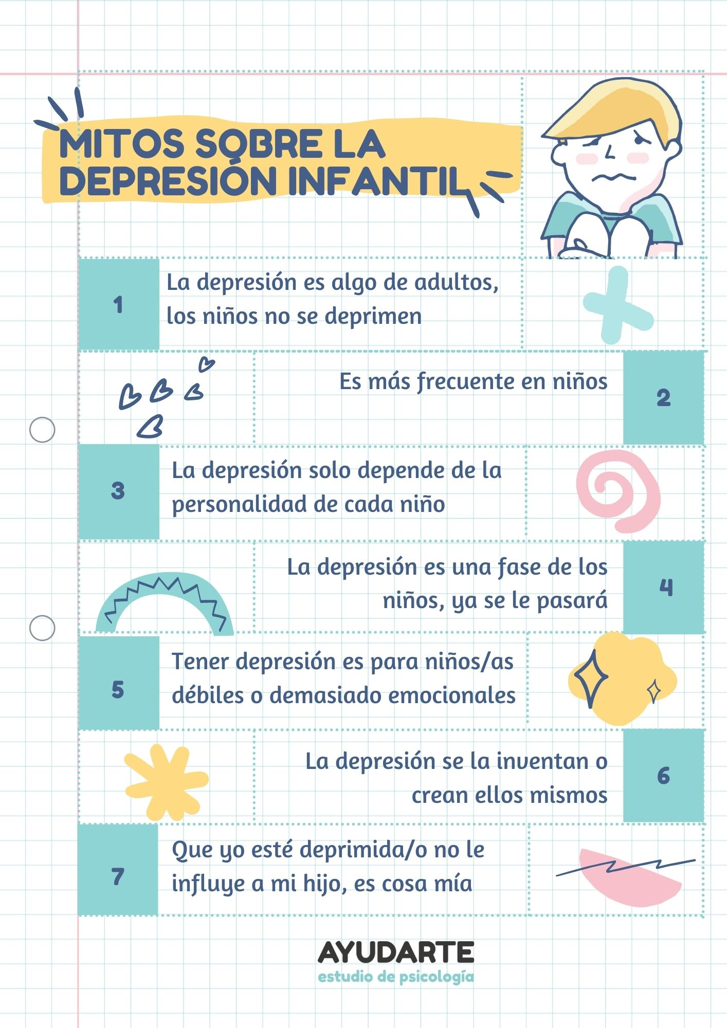 depresión mitos y realidades en niños
